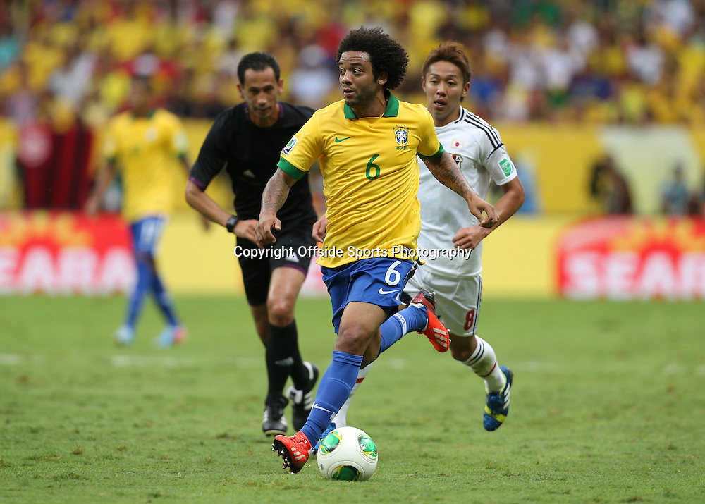 15th June 2013 - FIFA Confederations Cup 2013 - Brazil v Japan - Marcelo of Brazil - Photo: Simon Stacpoole / Offside.