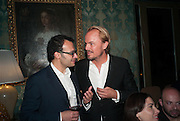 JONAS TAHLIN; VADIM GRIGORIAN Absolut Art Bureau cocktails and dinner to celebrate the announcement of the 2013 Absolut Art Award shortlist. Bauer Hotel, San Marco. Venice. Venice Bienalle. 28 May 2013