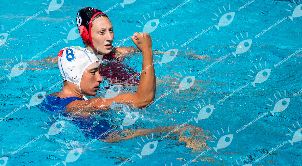 BIANCONI Roberta ITA <br /> ITA (white cap) -  CAN (blue cap)<br /> Water Polo<br /> Day03  16/07/2017 <br /> XVII FINA World Championships Aquatics<br /> Alfred Hajos Complex Margaret Island  <br /> Budapest Hungary July 15th - 30th 2017 <br /> Photo @ Deepbluemedia/Insidefoto