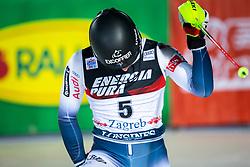 "NOEL Clement (FRA)  celebrates after winning the Audi FIS Alpine Ski World Cup ""Snow Queen Trophy"" Men's Slalom, on January 5, 2020 in Sljeme, Zagreb, Croatia. Photo by Sinisa Kanizaj / Sportida"
