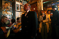"""Tasca do Chico"" is one of the typical spots were to see live perfomances of Fado music and were the audience can spontaneously participate and also ask to sing. It is located in  Bairro Alto neighborhood."