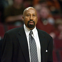 20 january 2009: Mike Woodson, head coach of the Atlanta Hawks, is seen during the Atlanta Hawks 105-102 victory over the Chicago Bulls, at United Center, Chicago, Illinois, USA.