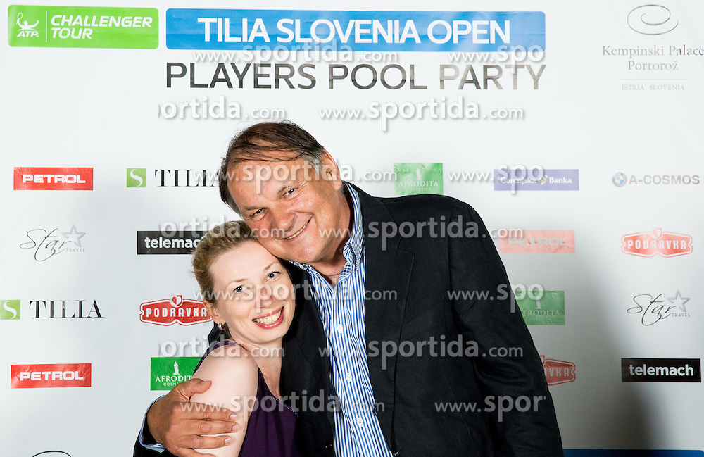 Sasa Vercic and Mark Umberger at Players Roof Party during Day 5 of ATP Challenger Tilia Slovenia Open 2014 on July 11, 2014 in Hotel Kempinski, Portoroz / Portorose, Slovenia. Photo by Vid Ponikvar / Sportida