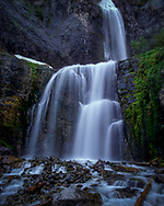 Comet Falls is a tall waterfall located on Van Trump Creek in Mount Rainier National Park, state of  Washington. The falls are thought to be the best in the central Cascade Mount Range.