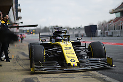 February 19, 2019 - Barcelona, Spain - Australian driver Daniel Ricciardo of French  team Renault F1 Team driving his single-seater RS19 during Barcelona winter test in Catalunya Circuit in Montmel?, Spain, on February 19, 2019. (Credit Image: © Andrea Diodato/NurPhoto via ZUMA Press)