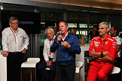 September 1, 2018 - Monza, Italie - Ross Brawn, Formula One Managing Director of Motorsports, Charlie Whiting, FIA Delegate, Martin Brundle, Sky TV and Maurizio Arrivabene, Ferrari Team Principal at F1 Hall of Fame at Formula One World Championship, Rd14, Italian Grand Prix, Qualifying, Monza, Italy, Saturday 1 September 2018. (Credit Image: © Panoramic via ZUMA Press)