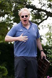 © Licensed to London News Pictures. 20/07/2019. Thame, Oxfordshire, UK.  Tory leadership contender, Boris Johnson is seen at his Oxfordshire home today. Boris Johnson is standing against Jeremy Hunt to become leader of the conservative party and British Prime Minister. Photo credit: Vickie Flores/LNP