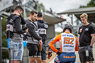 #192 (VAN DER BURG Dave) NED at Round 2 of the 2020 UCI BMX Supercross World Cup in Shepparton, Australia.