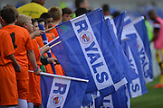 Flag bearers during the Sky Bet Championship match between Reading and Milton Keynes Dons at the Madejski Stadium, Reading, England on 22 August 2015. Photo by Mark Davies.