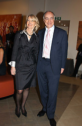 Leader of the Conservative Party MICHAEL HOWARD MP and his wife SANDRA HOWARSD at a fundraising evening for the Conservative Party General Election Campaign Fund held at Bonhams, 101 New Bond Street, London W1 on 17th March 2005.<br />
