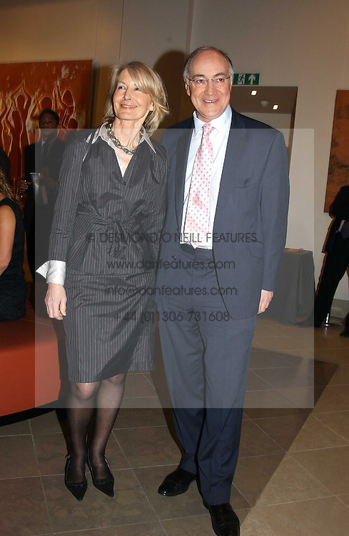 Leader of the Conservative Party MICHAEL HOWARD MP and his wife SANDRA HOWARSD at a fundraising evening for the Conservative Party General Election Campaign Fund held at Bonhams, 101 New Bond Street, London W1 on 17th March 2005.<br /><br />NON EXCLUSIVE - WORLD RIGHTS