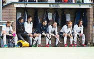 TILBURG - Dus out, de bank, van Tilburg.  . Hoofdklasse hockey competitie Tilburg-SCHC (4-2). COPYRIGHT KOEN SUYK