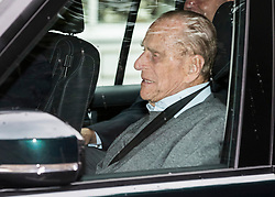 © Licensed to London News Pictures. 22/06/2017. London, UK. The Duke of Edinburgh leaves the King Edward VII's hospital in west London after being admitted following an infection. Photo credit: Peter Macdiarmid/LNP