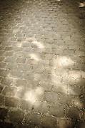 Cobblestone walkway at Père Lachaise Cemetery, Paris, France