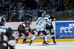 01.01.2019, Ice Rink, Znojmo, CZE, EBEL, HC Orli Znojmo vs EHC Liwest Black Wings Linz, 34. Runde, im Bild v.l. Marek Kalus (HC Orli Znojmo) Aaron Brocklehurst (EHC Liwest Black Wings Linz) Allan McPherson (HC Orli Znojmo) // during the Erste Bank Eishockey League 34th round match between HC Orli Znojmo and EHC Liwest Black Wings Linz at the Ice Rink in Znojmo, Czechia on 2019/01/01. EXPA Pictures © 2019, PhotoCredit: EXPA/ Rostislav Pfeffer
