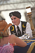 A fortune teller along the Mallory Square dock in Key West, Florida.