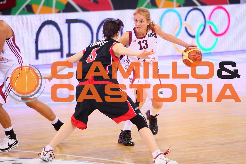 DESCRIZIONE : Madrid 2008 Fiba Olympic Qualifying Tournament For Women Latvia Japan <br /> GIOCATORE : Leva Tare <br /> SQUADRA : Latvia Lettonia <br /> EVENTO : 2008 Fiba Olympic Qualifying Tournament For Women <br /> GARA : Latvia Japan Lettonia Giappone <br /> DATA : 11/06/2008 <br /> CATEGORIA : Palleggio <br /> SPORT : Pallacanestro <br /> AUTORE : Agenzia Ciamillo-Castoria/S.Silvestri <br /> Galleria : 2008 Fiba Olympic Qualifying Tournament For Women <br /> Fotonotizia : Madrid 2008 Fiba Olympic Qualifying Tournament For Women Latvia Japan <br /> Predefinita :