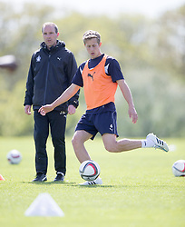 Falkirk's Will Vaulks. Falkirk FC training at Swansea's training pitches, before next weeks Cup Final.