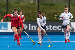 East Grinstead v Holcombe - Investec Women's Hockey League Finals, Lee Valley Hockey & Tennis Centre, London, UK on 28 April 2018. Photo: Simon Parker