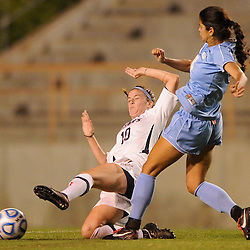 during NCAA Big West women's soccer action between Cal State Fullerton and San Diego.