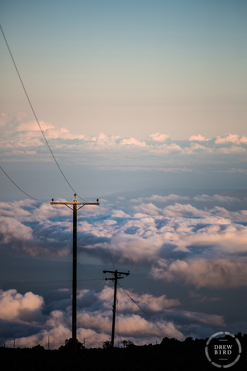 Haleakala | Maui, Hawaii | Above the Clouds + Powerlines | Cultural Landscape | Climate Stories | Conservation Photographer <br />