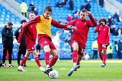 Adam Nagy of Bristol City and Pedro Pereira of Bristol City warm up - Mandatory by-line: Robbie Stephenson/JMP - 10/11/2019 -  FOOTBALL - Cardiff City Stadium - Cardiff, Wales -  Cardiff City v Bristol City - Sky Bet Championship