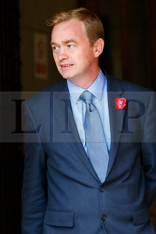 © Licensed to London News Pictures. 03/11/2015. London, UK. Leader of Liberal Democrats Tim Farron attending a memorial service for ex-Liberal Democrat leader Charles Kennedy at St George's Cathedral in London on Tuesday, 3 November, 2015. Mr Kennedy died suddenly on June 1, 2015 at the age of 55 after suffering a major haemorrhage as a result of a long battle with alcoholism. Photo credit: Tolga Akmen/LNP