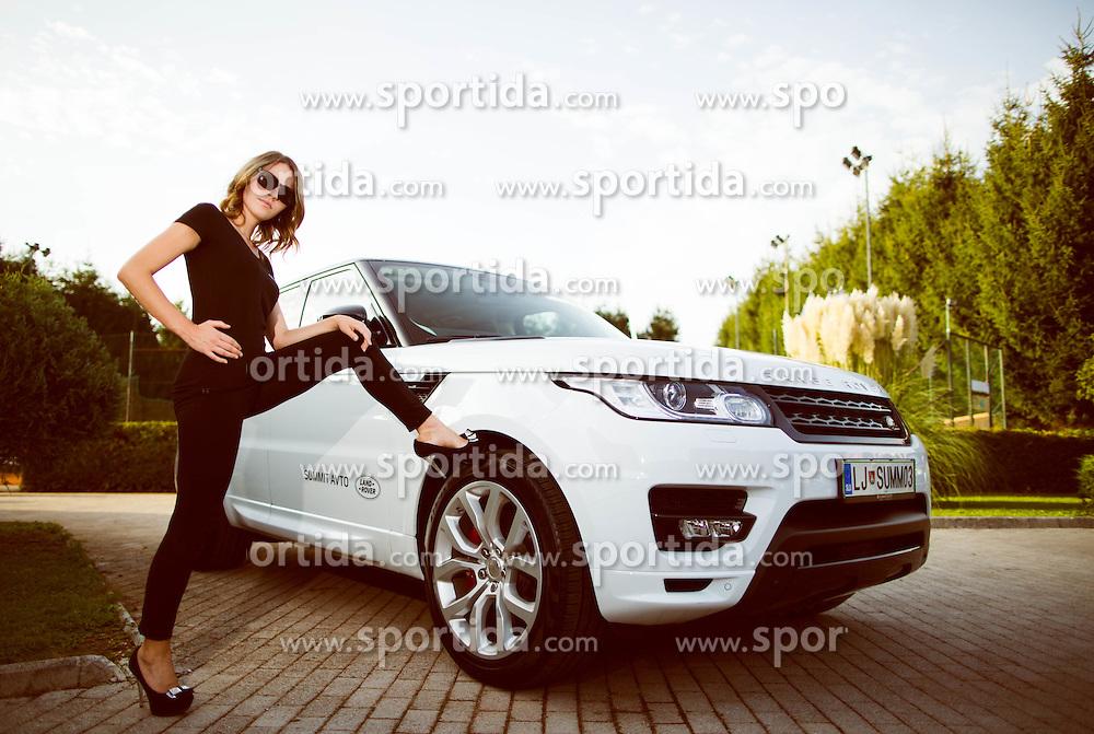 Gaja Bobek posing at Jaguar Land Rover Tenis Slovenija PRO AM 2015 event by TZS, on September 17, 2015, in Benc centre, Ljubljana, Slovenia. Photo by Vid Ponikvar / Sportida