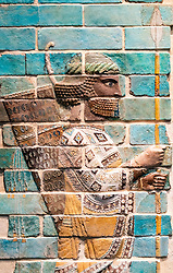 Glazed brick of Persian Archer from Achaemenid empire , Iran.