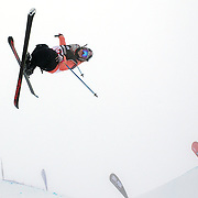 Anais Caradeux, France, in action during the Ladies Freeski Halfpipe event at the Winter Games at Cardrona, Wanaka, New Zealand. 17th August 2011. Photo Tim Clayton...