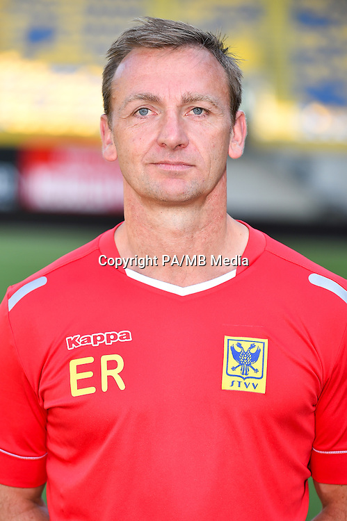 STVV's physical coach Eddie Rob poses for the photographer during the 2015-2016 season photo shoot of Belgian first league soccer team STVV, Friday 17 July 2015 in Sint-Truiden.
