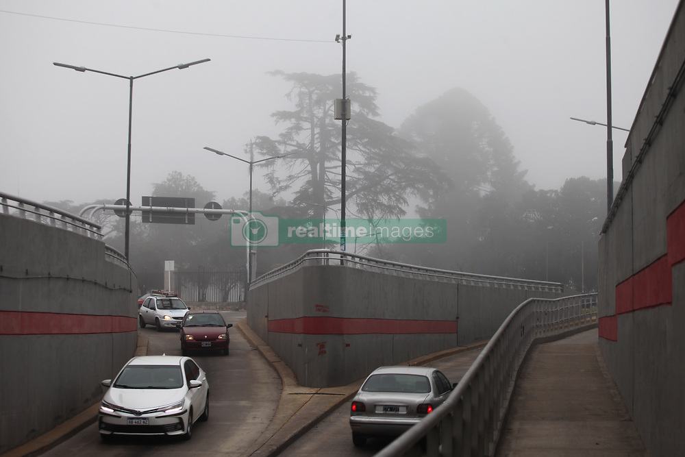 May 27, 2019 - Buenos Aires, Buenos Aires, Argentina - Extreme foggy morning in Buenos Aires caused delays in public transport services and traffic congestion at the entrances to the city. (Credit Image: © Claudio Santisteban/ZUMA Wire)