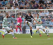 Dundee's Paul McGowan gets a pass away - Dundee v Celtic SPFL Premiership at Dens Park<br /> <br />  - &copy; David Young - www.davidyoungphoto.co.uk - email: davidyoungphoto@gmail.com