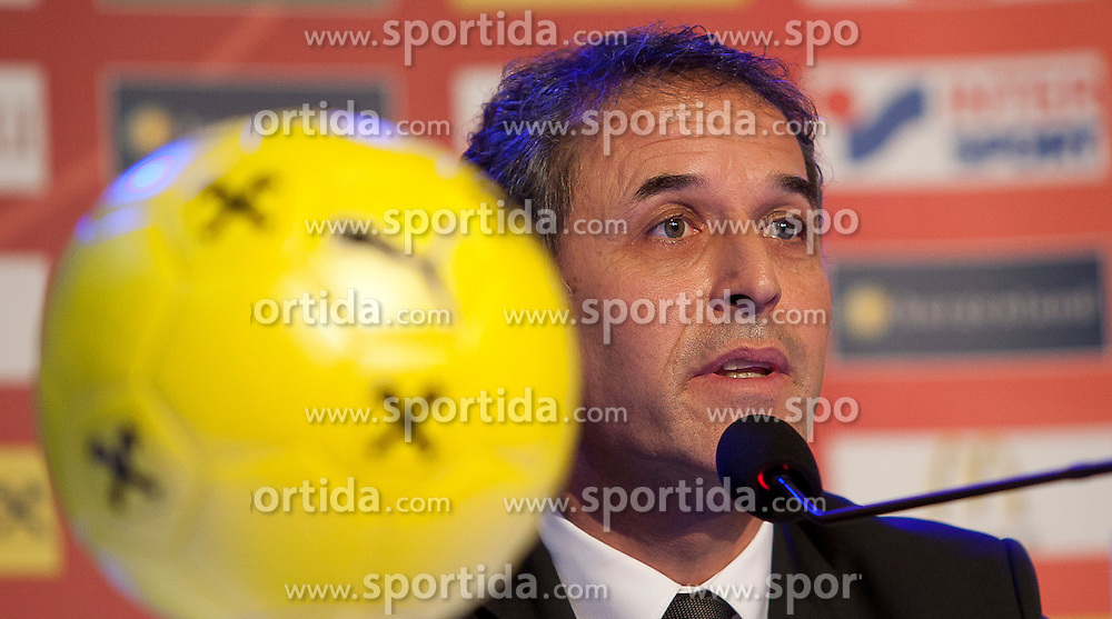 04.10.2011, Oberwart, AUT, OeFB, Praesentation Nationalteam Trainer, im Bild TEXT // during the presentation of the new OeFB coach in Oberwart, AUT, on 2011-10-04, EXPA Pictures © 2011, PhotoCredit: EXPA/ Erwin Scheriau