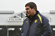 Burton Albion manager Nigel Clough during the EFL Sky Bet Championship match between Fulham and Burton Albion at Craven Cottage, London, England on 20 January 2018. Photo by Richard Holmes.