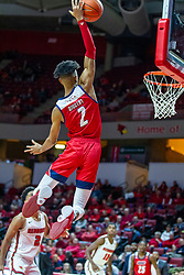 NORMAL, IL - December 18: Michael Diggins attempts completion of an allyoop during a college basketball game between the ISU Redbirds and the UIC Flames on December 18 2019 at Redbird Arena in Normal, IL. (Photo by Alan Look)