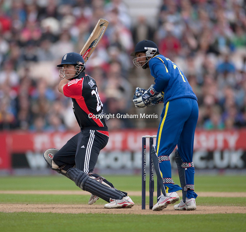 Alastair Cook bats during the fifth and final one day international between England and Sri Lanka at Old Trafford, Manchester. Photo: Graham Morris (Tel: +44(0)20 8969 4192 Email: sales@cricketpix.com) 06/07/11