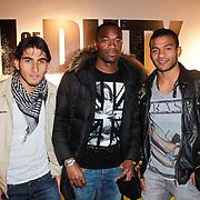 NLD/Amsterdam/20111107- Lancering Call of Duty MW3, Ajax spelers Aras Ozbili, Kenneth Vermeer en Andy Ebecilio