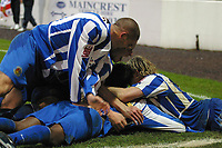 Photo: Paul Thomas.<br /> Chester City v Nottingham Forest. The FA Cup.<br /> 03/12/2005.<br /> <br /> Chester celebrate Marcus Richardson's goal.