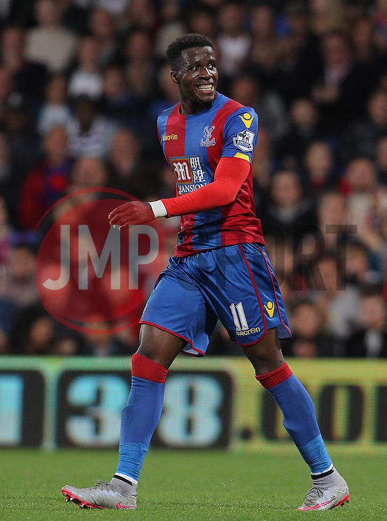 Wilfried Zaha of Crystal Palace - Mandatory byline: Paul Terry/JMP - 07966386802 - 25/08/2015 - FOOTBALL - Selhurst Park -London,England - Crystal Palace v Shrewsbury town - Capital One Cup - Second Round