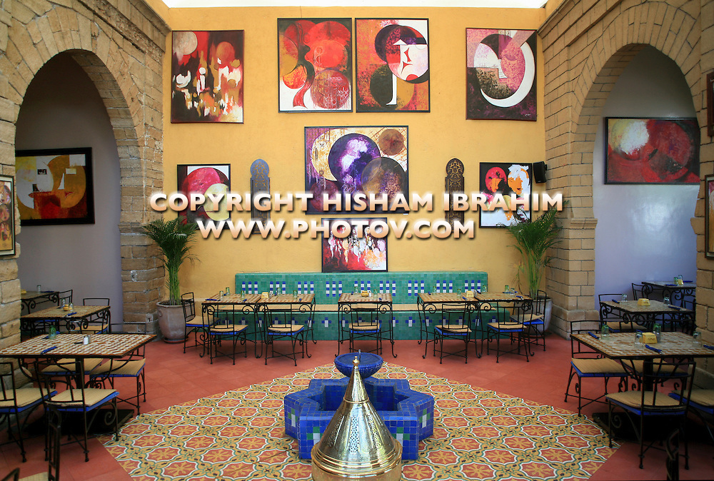 Interior of a Moroccan Restaurant - Casablanca, Morocco