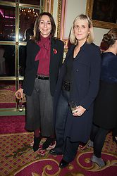 Left to right, VICTORIA CATOR and SOPHIE MONTGOMERY at a reception and talk in honour of the late Loulou de La Falaise hosted by CLIC Sargent held at The Ritz, Piccadilly, London on 2nd November 2015.