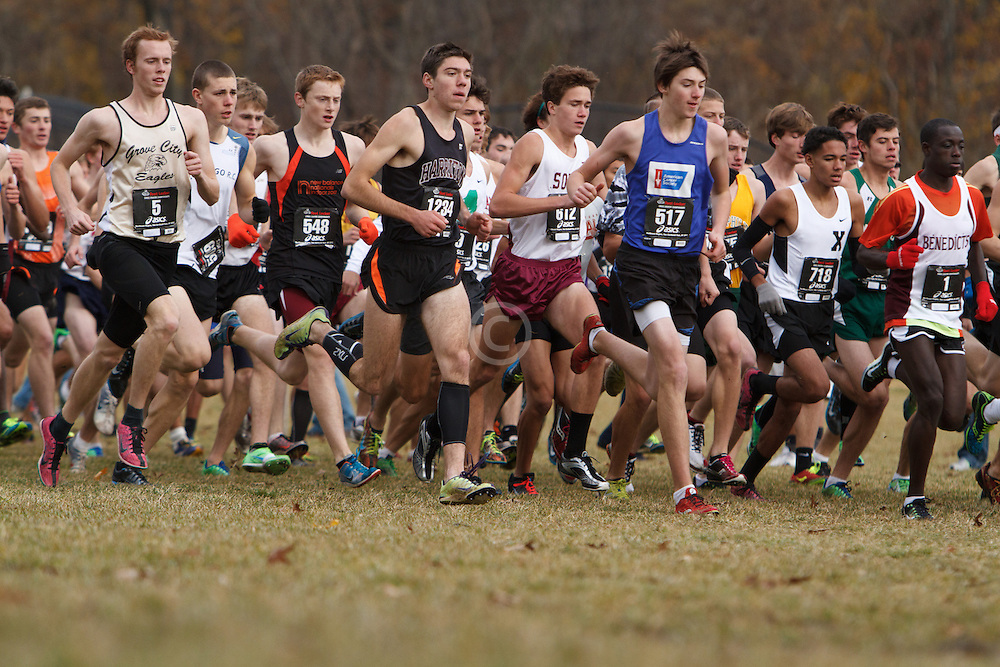Foot Locker Cross Country Northeast Regional Championship race, seeded boys start, Dan Curts, ME