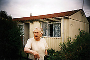 The Newport prefabs estate in Wales, 2003. Thousands of post-war prefabs are still being lived in and cherished by their tenants or owners all over the UK.