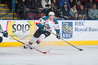 KELOWNA, CANADA - JANUARY 16: Leon Draisaitl #29 of the Kelowna Rockets skates against the Seattle Thunderbirds on January 16, 2015 at Prospera Place in Kelowna, British Columbia, Canada.  (Photo by Marissa Baecker/Shoot the Breeze)  *** Local Caption *** Leon Draisaitl;