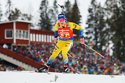 March 16, 2019 - –Stersund, Sweden - 190316 Anna Magnusson of Sweden competes in the Women's 4x6 km Relay during the IBU World Championships Biathlon on March 16, 2019 in Östersund..Photo: Johan Axelsson / BILDBYRÃ…N / Cop 245 (Credit Image: © Johan Axelsson/Bildbyran via ZUMA Press)