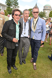 Left to right, KENNEY JONES, NICK MASON and GARY KEMP at the Cartier hosted Style et Lux at The Goodwood Festival of Speed at Goodwood House, West Sussex on 29th June 2014.