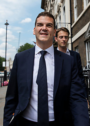 © Licensed to London News Pictures. 24/07/2018. London, UK. Olly Robbins, Theresa May's Europe Adviser, on Whitehall as he heads to Portcullis House to appear in front of a select committee. Photo credit: Rob Pinney/LNP