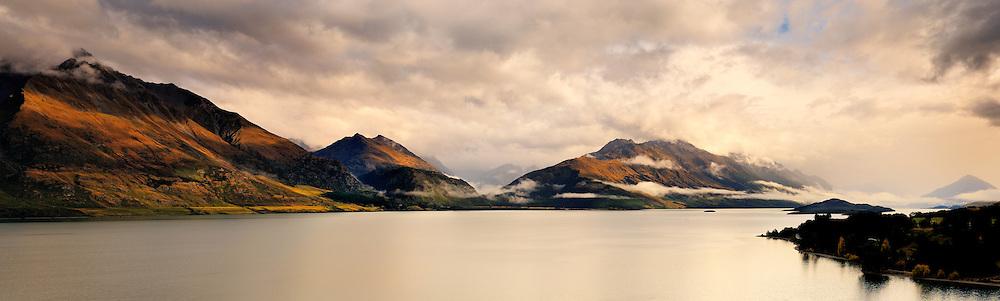 Richard Furhoff 100101_Glenorchy_Panorama.tif, .Lake Wakatipu, New Zealand...