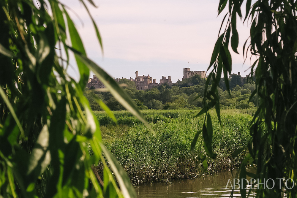 Arundel castle & cathedral in South Downs, West Sussex, England